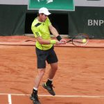 Andy Murray in action in the French Open first round